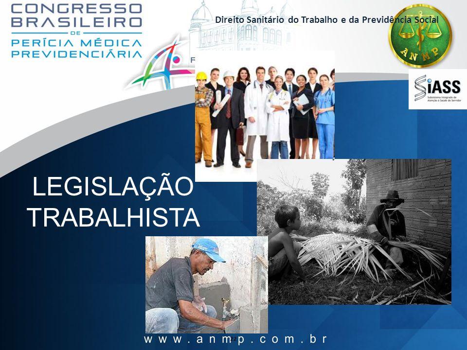 Direito Sanitário do Trabalho e da Previdência Social