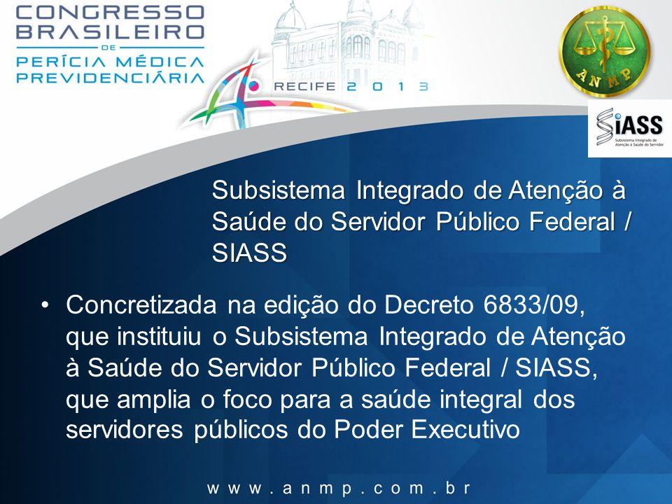 Subsistema Integrado de Atenção à Saúde do Servidor Público Federal / SIASS
