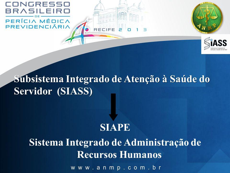 Subsistema Integrado de Atenção à Saúde do Servidor (SIASS)