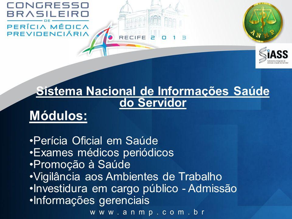 Sistema Nacional de Informações Saúde do Servidor