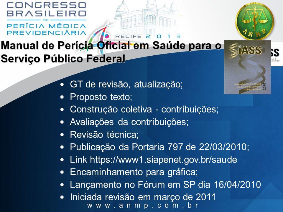 Manual de Perícia Oficial em Saúde para o Serviço Público Federal