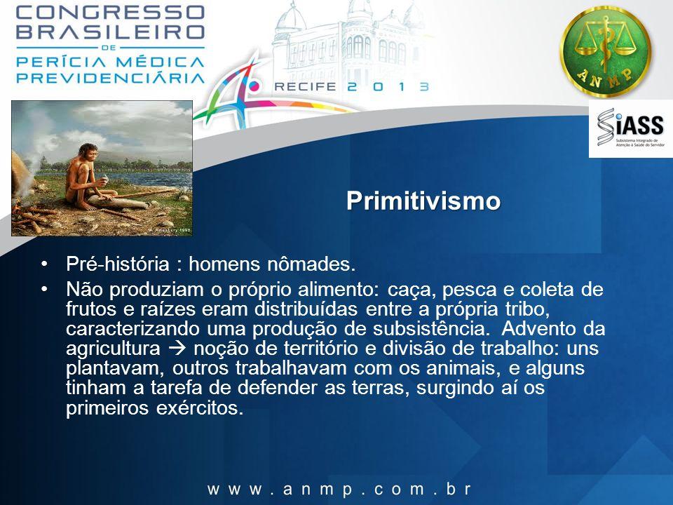 Primitivismo Pré-história : homens nômades.