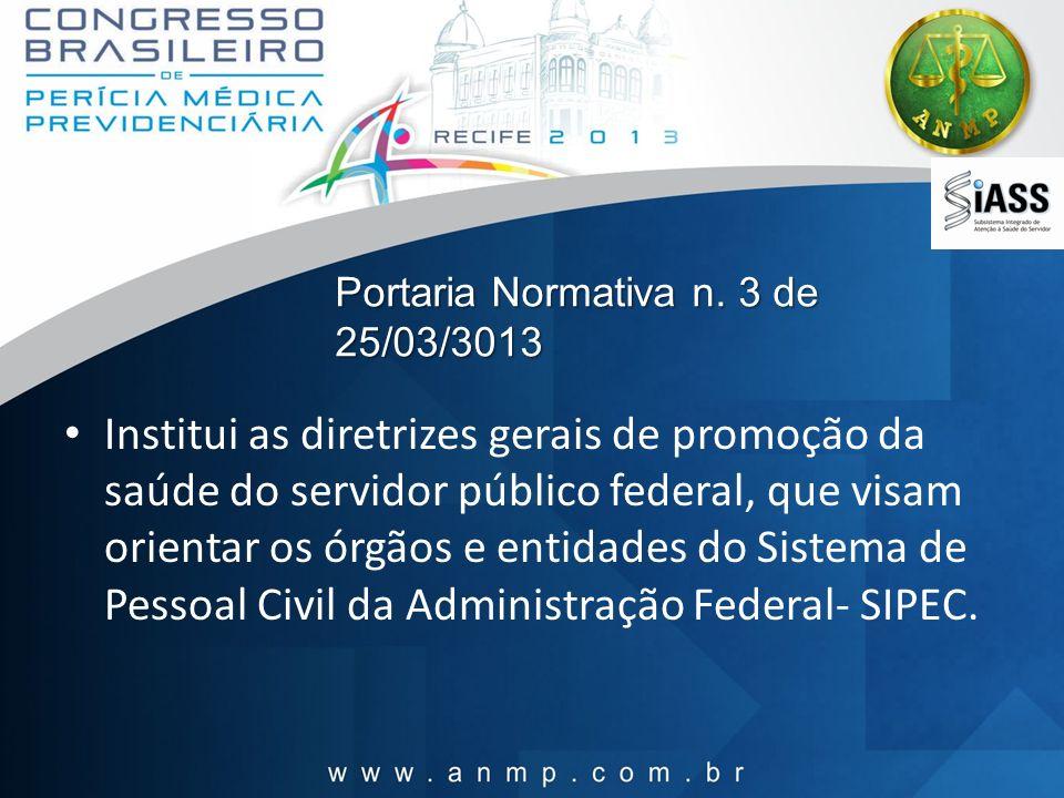 Portaria Normativa n. 3 de 25/03/3013