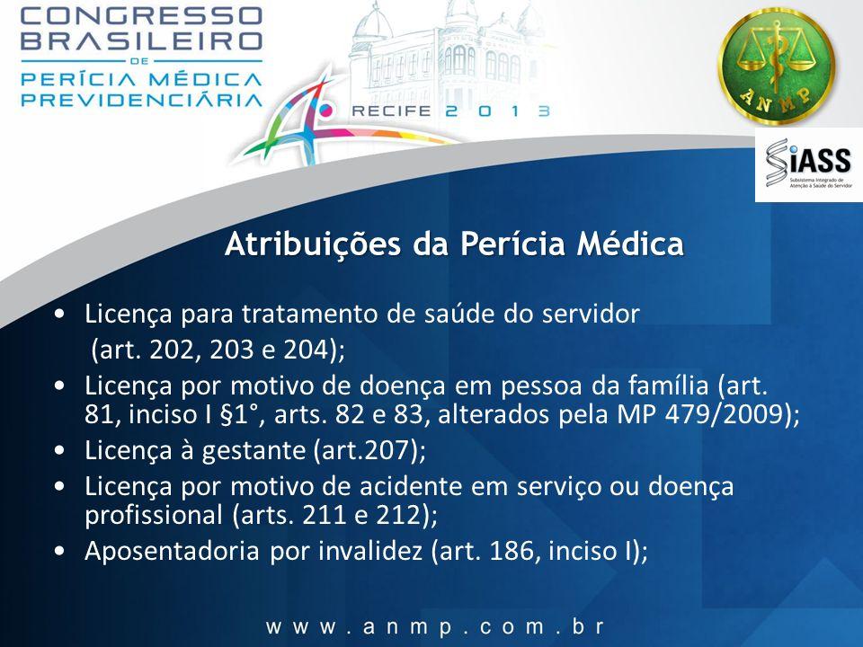 Atribuições da Perícia Médica