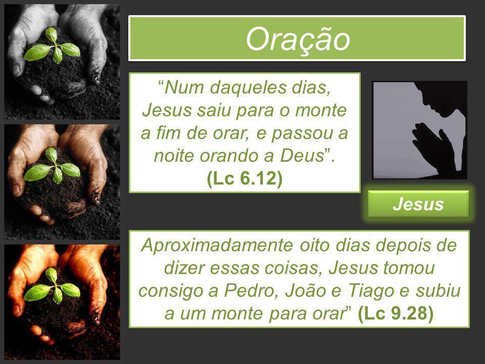 Oração Num daqueles dias, Jesus saiu para o monte a fim de orar, e passou a noite orando a Deus . (Lc 6.12)