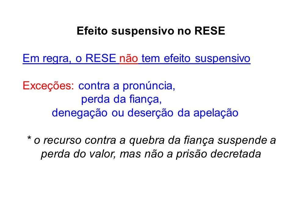 Efeito suspensivo no RESE