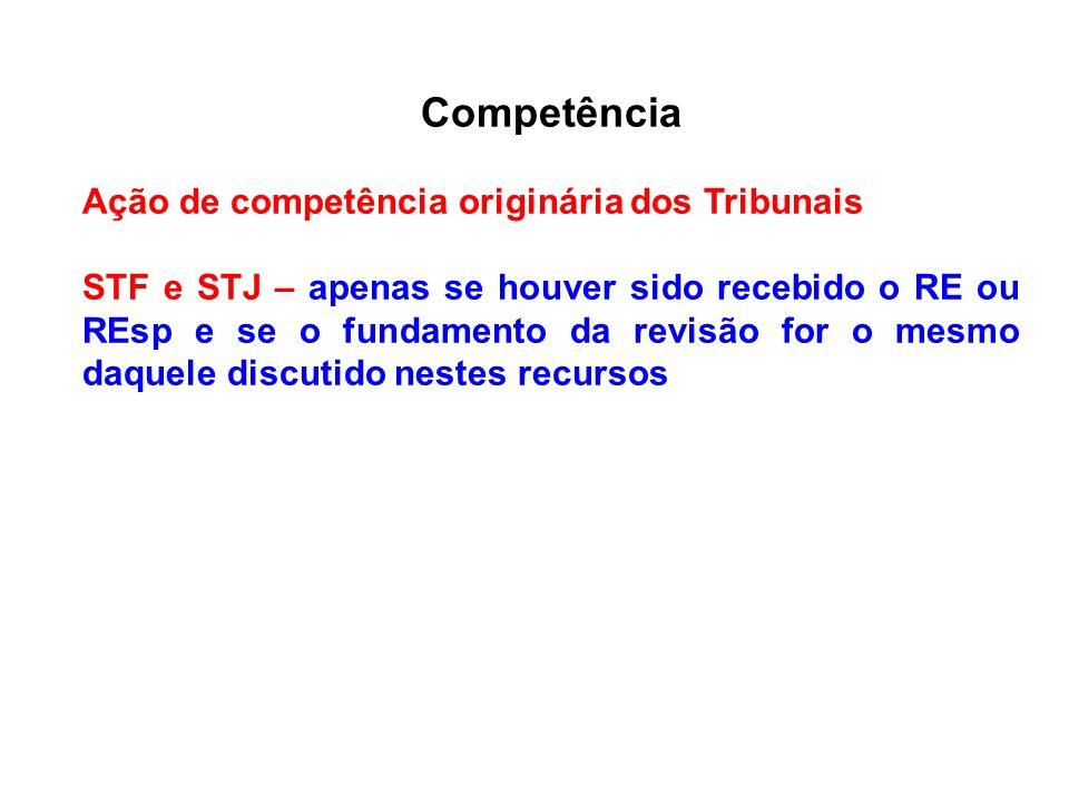Competência Ação de competência originária dos Tribunais