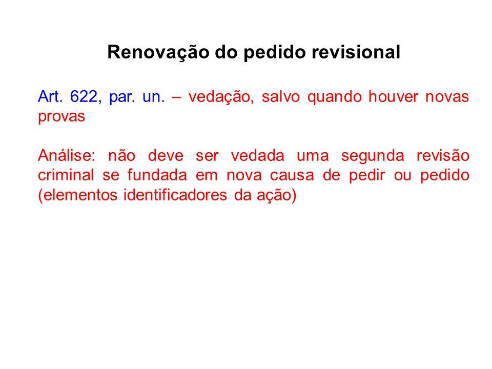 Renovação do pedido revisional