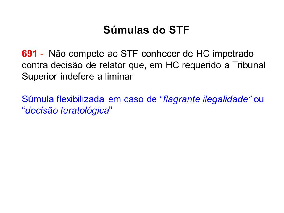 Súmulas do STF