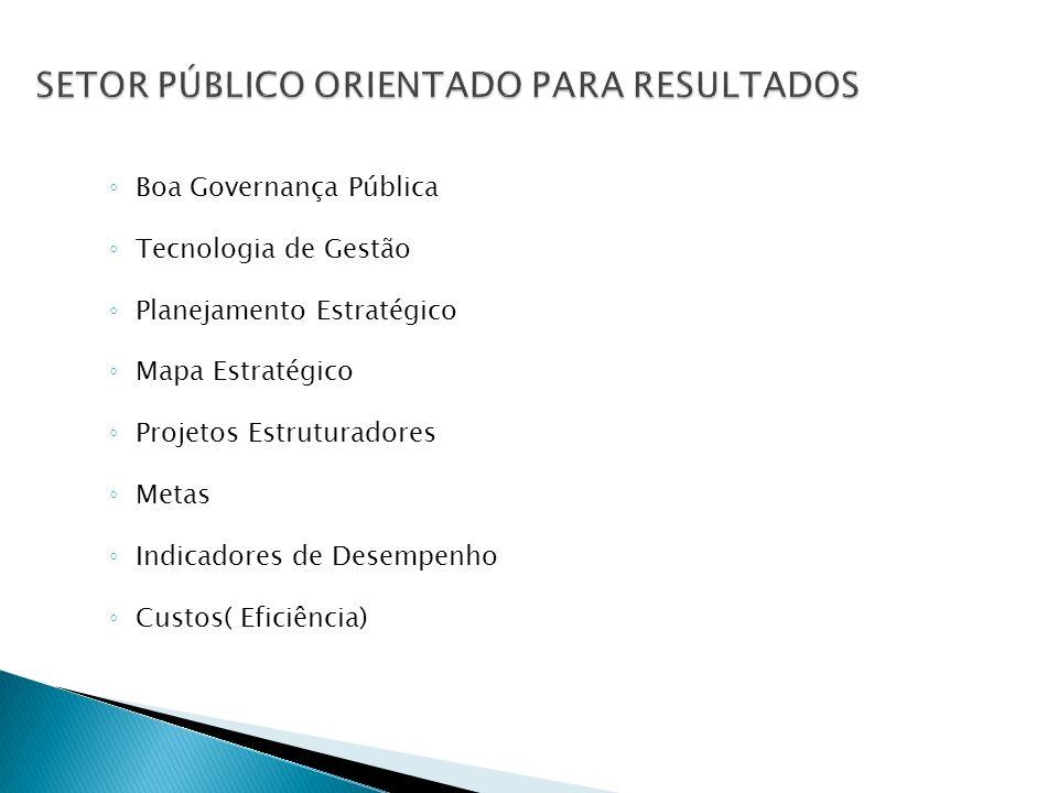 SETOR PÚBLICO ORIENTADO PARA RESULTADOS