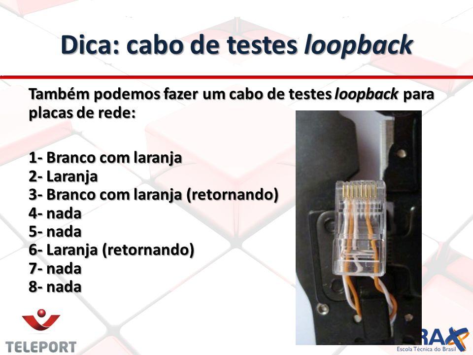 Dica: cabo de testes loopback