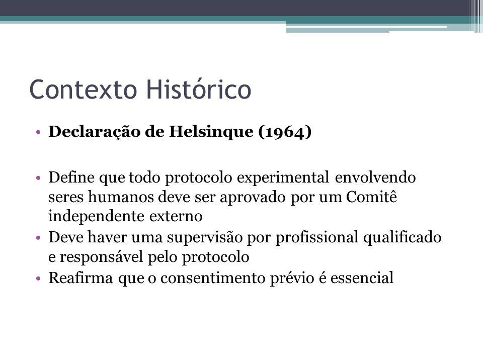 Contexto Histórico Declaração de Helsinque (1964)