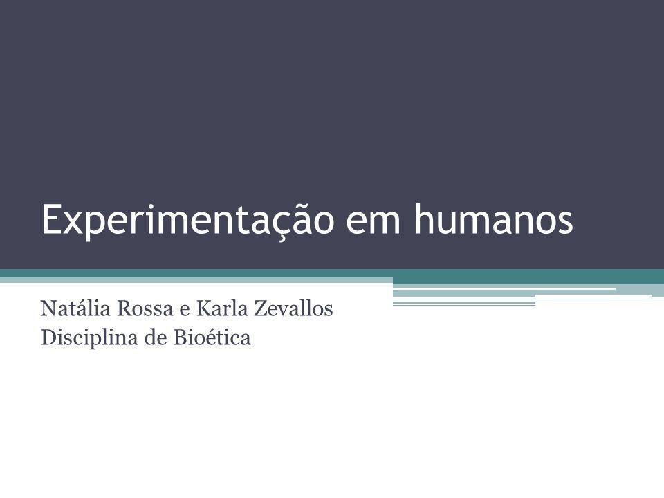 Experimentação em humanos