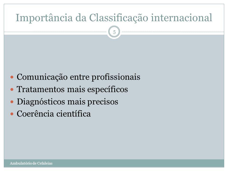 Importância da Classificação internacional