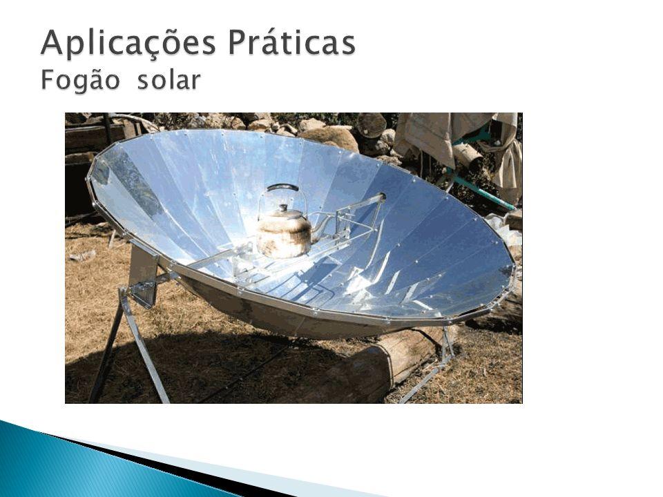 Aplicações Práticas Fogão solar