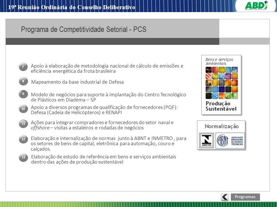 Programa de Competitividade Setorial - PCS