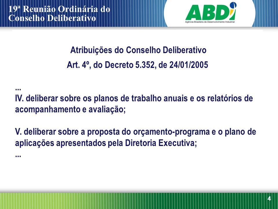 Atribuições do Conselho Deliberativo