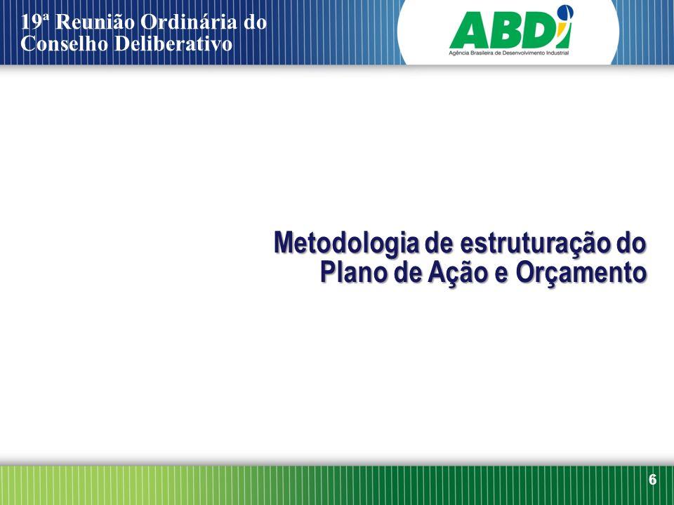 Metodologia de estruturação do Plano de Ação e Orçamento