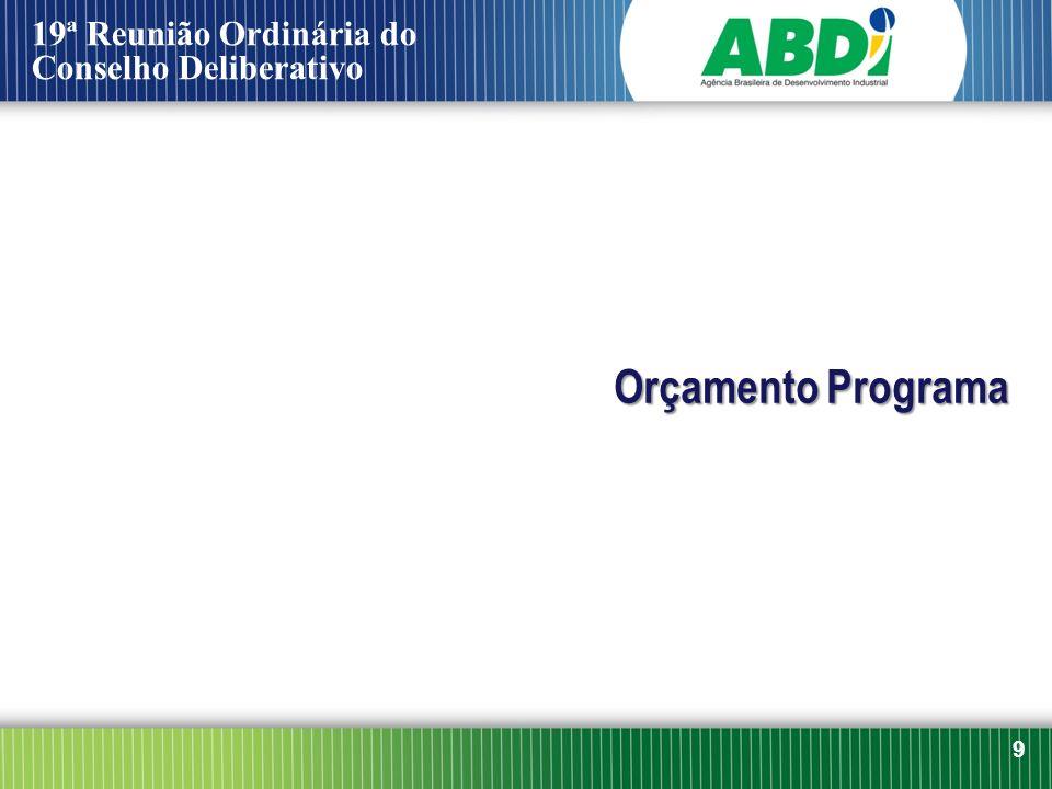 19ª Reunião Ordinária do Conselho Deliberativo Orçamento Programa 9