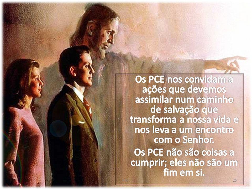 Os PCE não são coisas a cumprir; eles não são um fim em si.