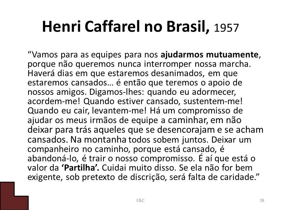Henri Caffarel no Brasil, 1957
