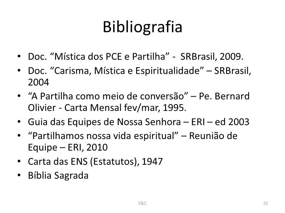 Bibliografia Doc. Mística dos PCE e Partilha - SRBrasil, 2009.