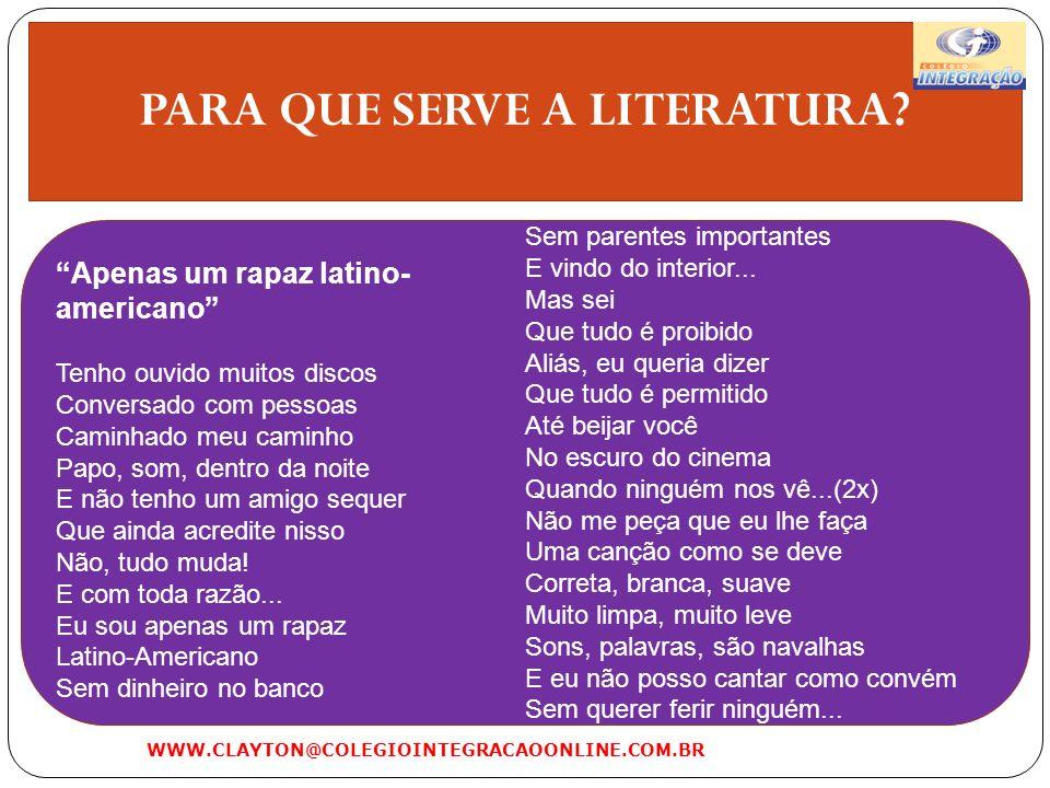 PARA QUE SERVE A LITERATURA