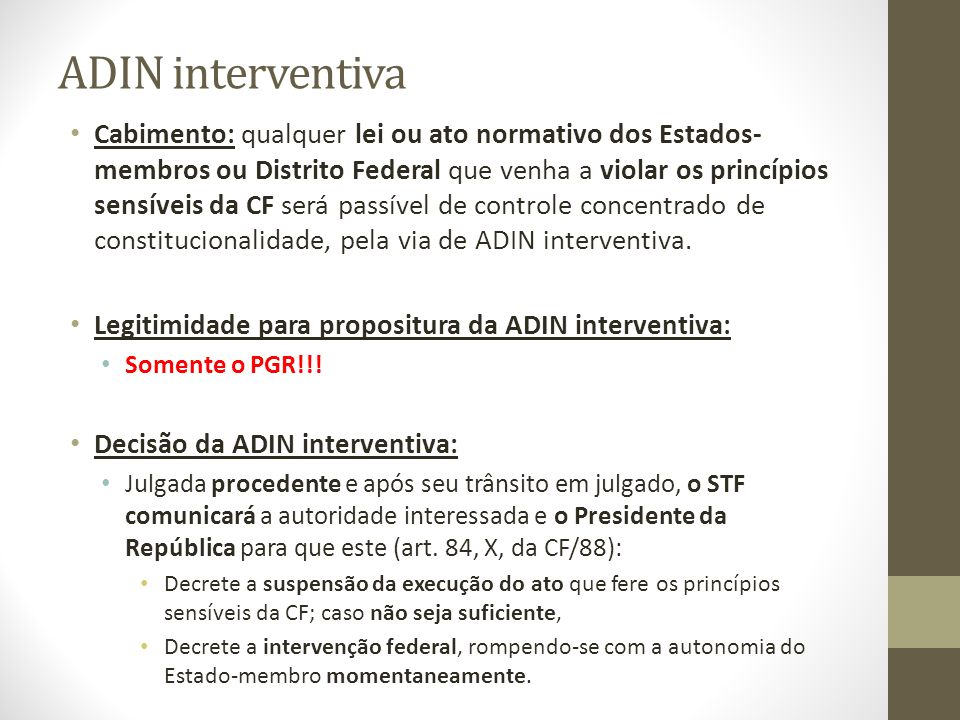 ADIN interventiva