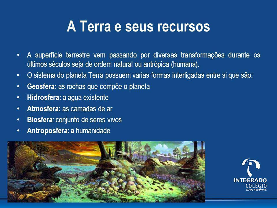 A Terra e seus recursos