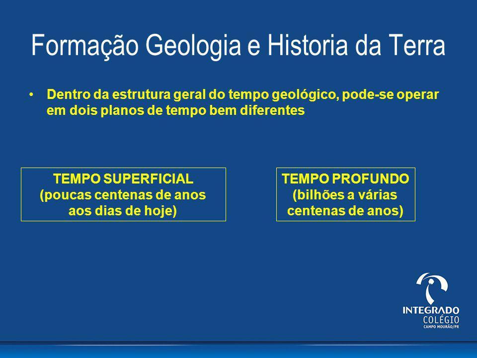 Formação Geologia e Historia da Terra