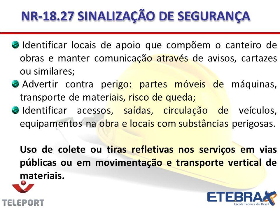 NR-18.27 SINALIZAÇÃO DE SEGURANÇA