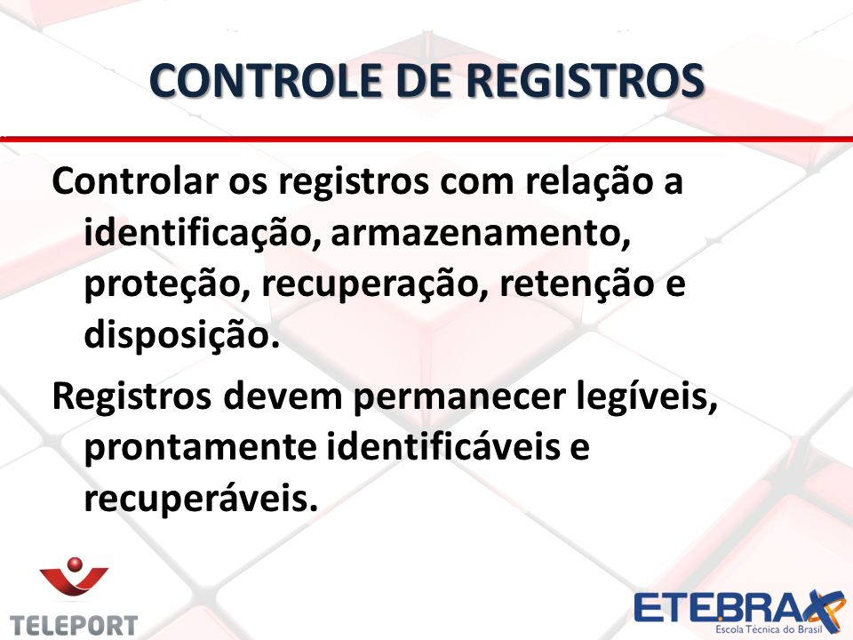 CONTROLE DE REGISTROS