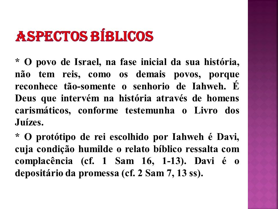 ASPECTOS Bíblicos