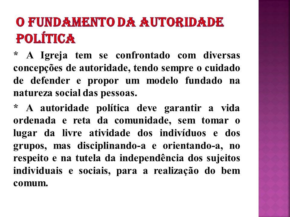 O FUNDAMENTO DA AUTORIDADE POLÍTICA