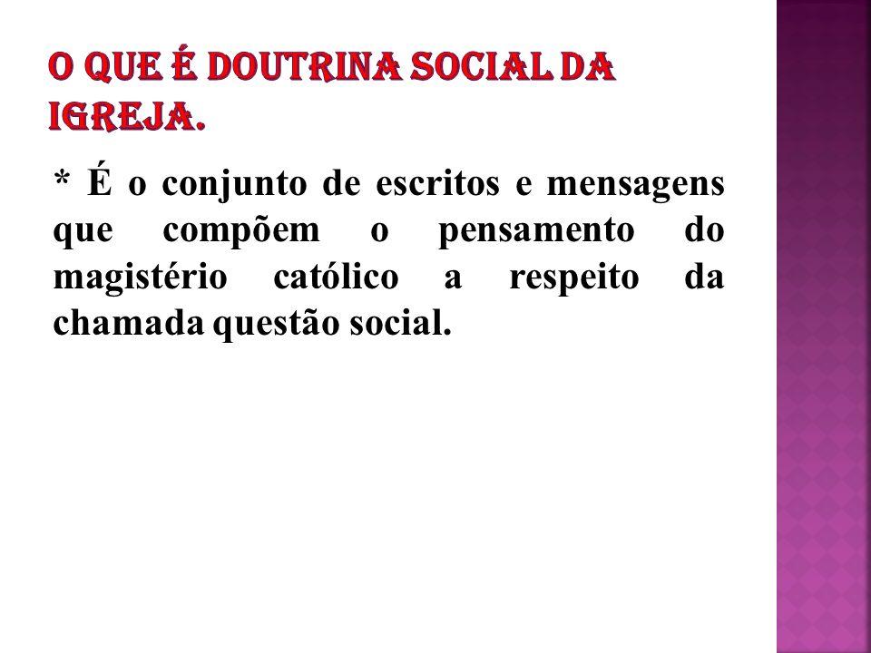 O QUE É DOUTRINA SOCIAL DA IGREJA.