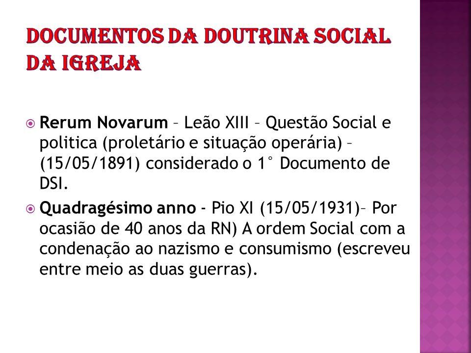 Documentos da Doutrina social da igreja