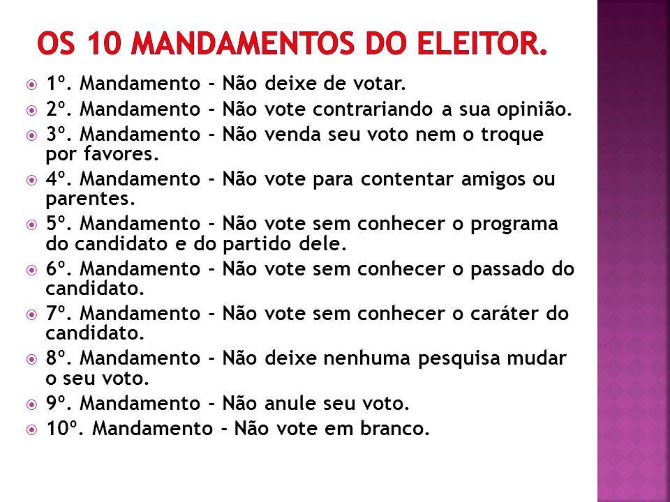 OS 10 MANDAMENTOS DO ELEITOR.