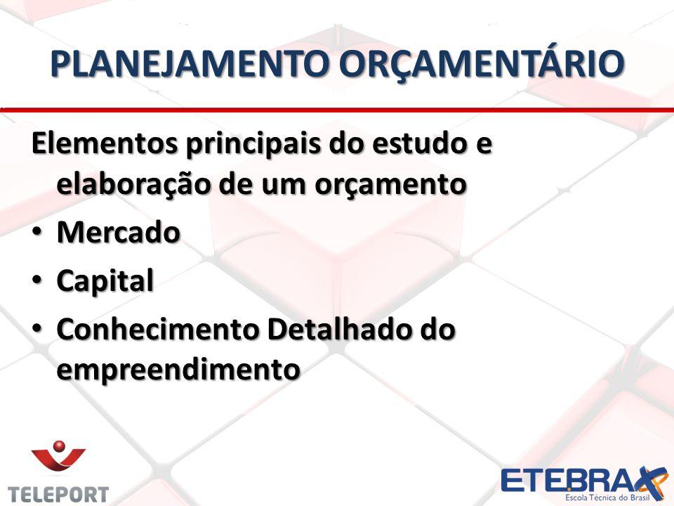 PLANEJAMENTO ORÇAMENTÁRIO