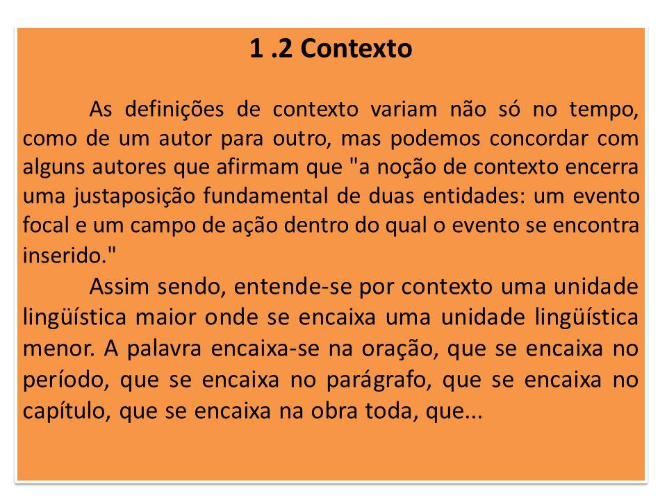 1 .2 Contexto
