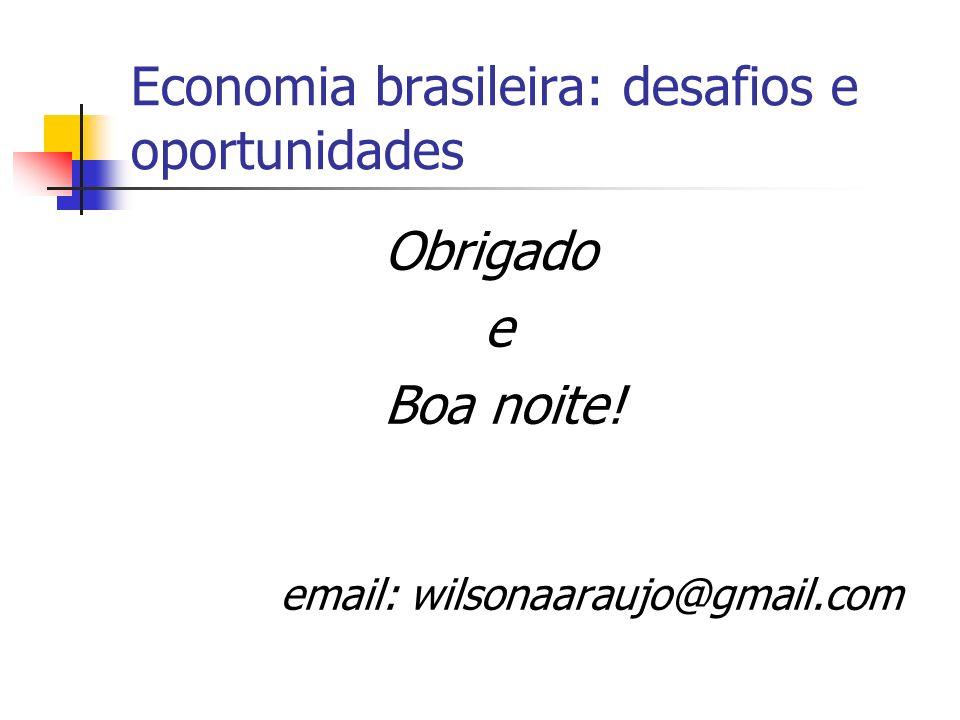Economia brasileira: desafios e oportunidades