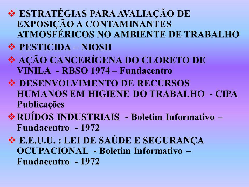 ESTRATÉGIAS PARA AVALIAÇÃO DE EXPOSIÇÃO A CONTAMINANTES ATMOSFÉRICOS NO AMBIENTE DE TRABALHO