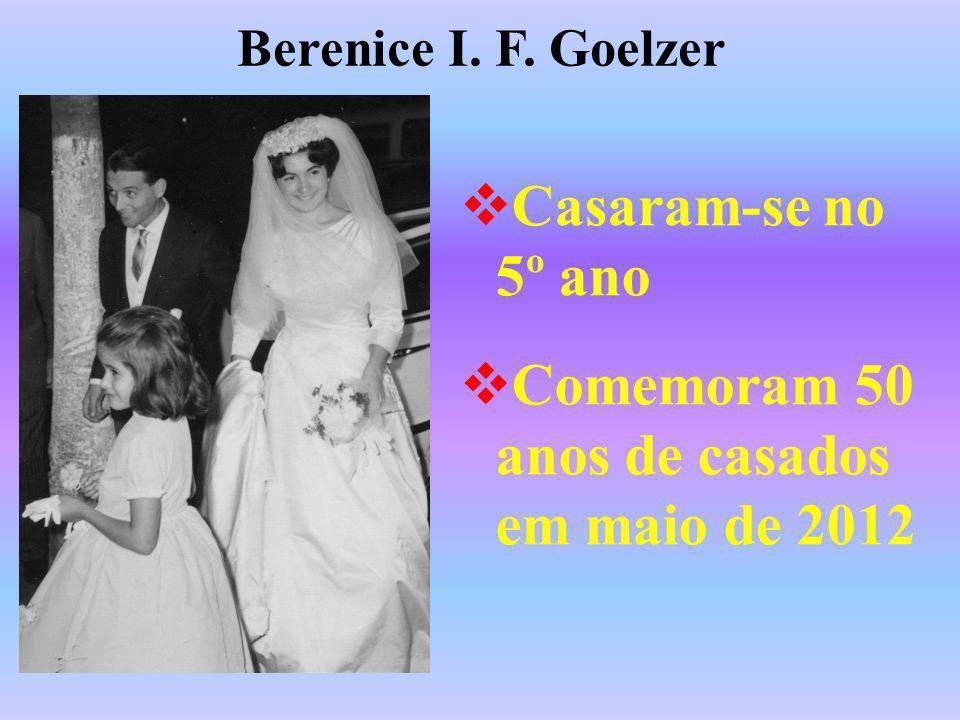 Comemoram 50 anos de casados em maio de 2012