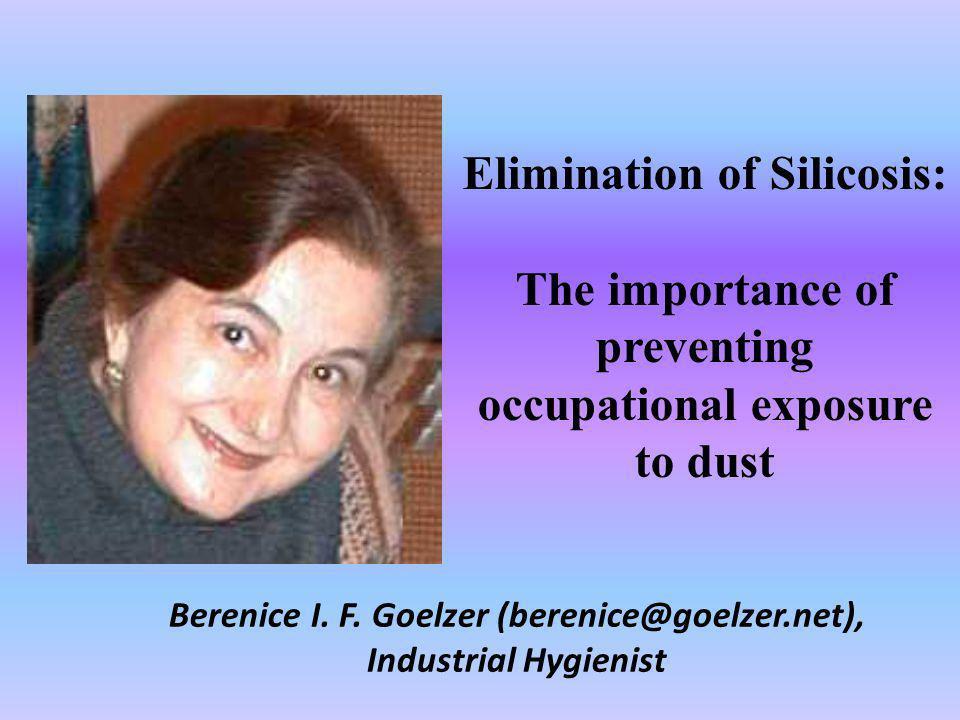 Berenice I. F. Goelzer (berenice@goelzer.net), Industrial Hygienist