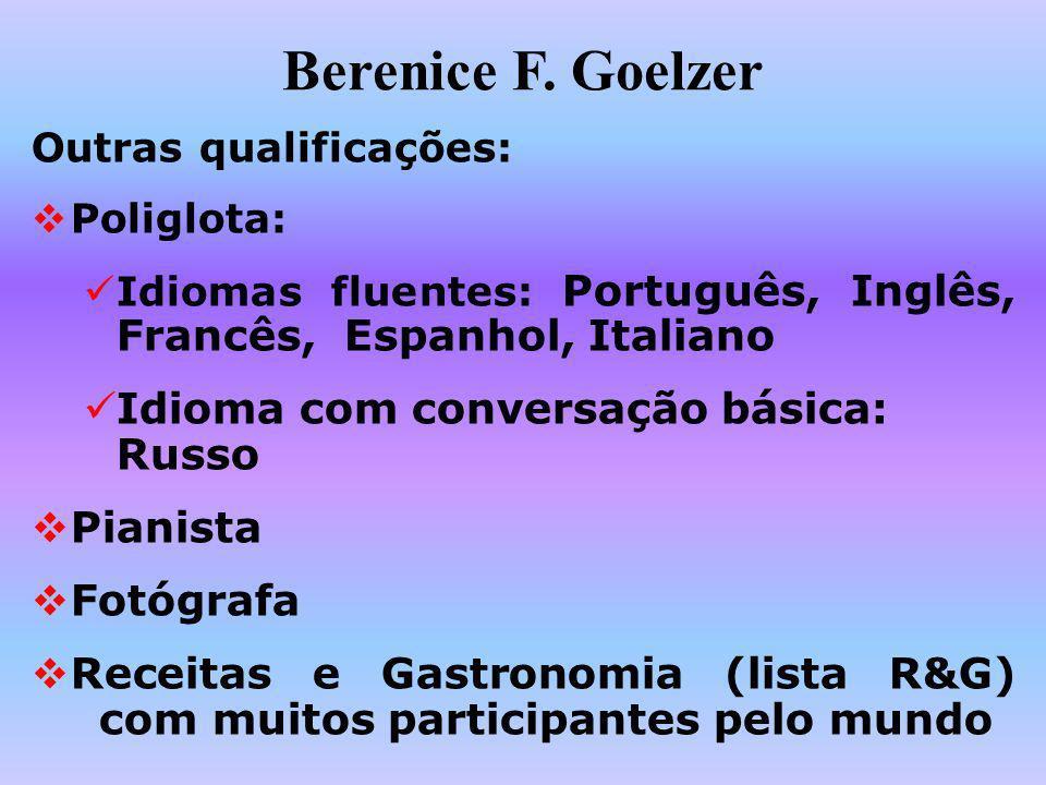 Berenice F. Goelzer Idioma com conversação básica: Russo Pianista