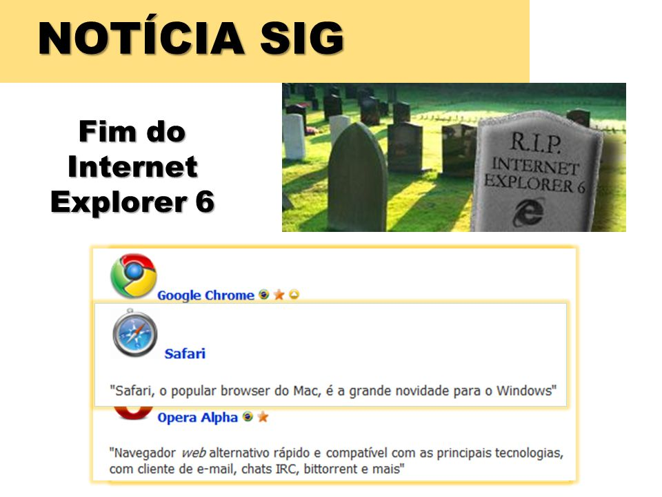 Fim do Internet Explorer 6