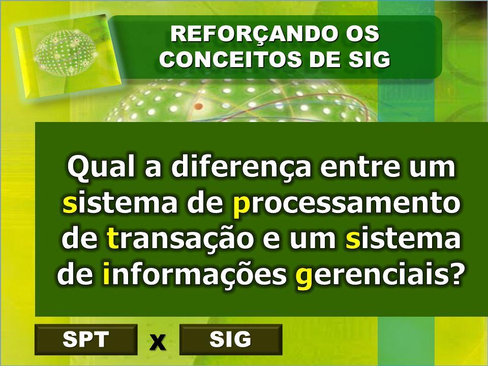 REFORÇANDO OS CONCEITOS DE SIG