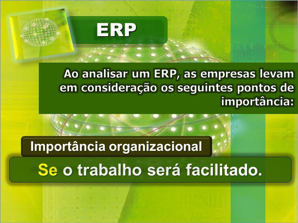 Importância organizacional Se o trabalho será facilitado.