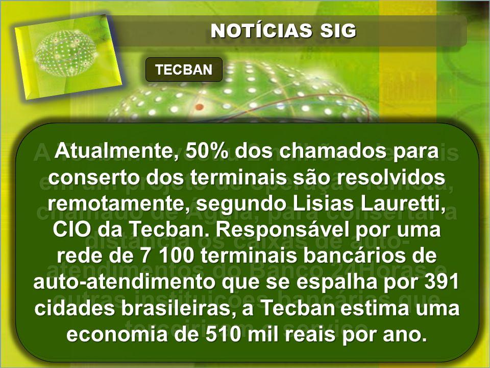 NOTÍCIAS SIG TECBAN.