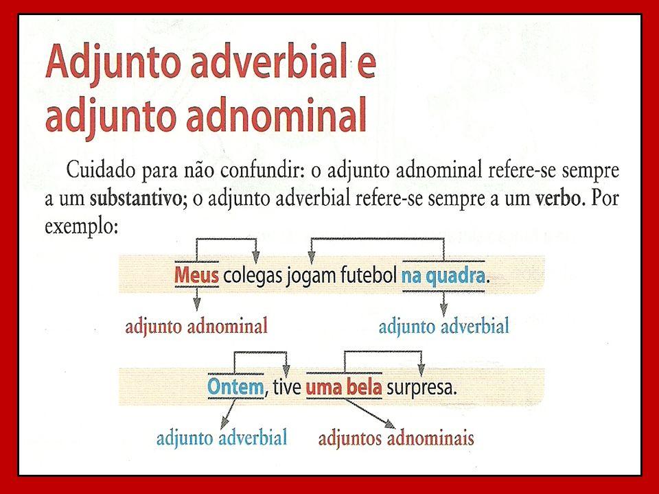 importante) o que sobra é (aa) adjunto adnominal. Com exceção de: