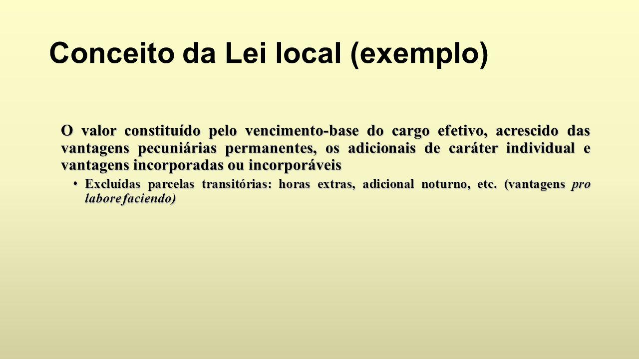 Conceito da Lei local (exemplo)